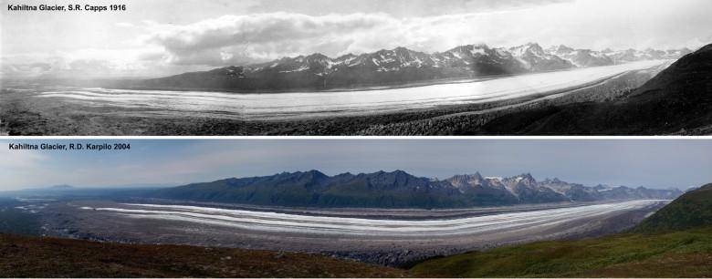 Kahiltna Glacier 1916 and 2004