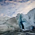 Teresa Brewis surveys the terminus of Castle Creek Glacier.